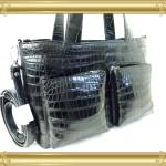オーダー例19:マットクロコダイルの2本手バッグ